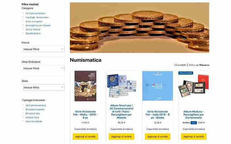 ecommerce numismatica